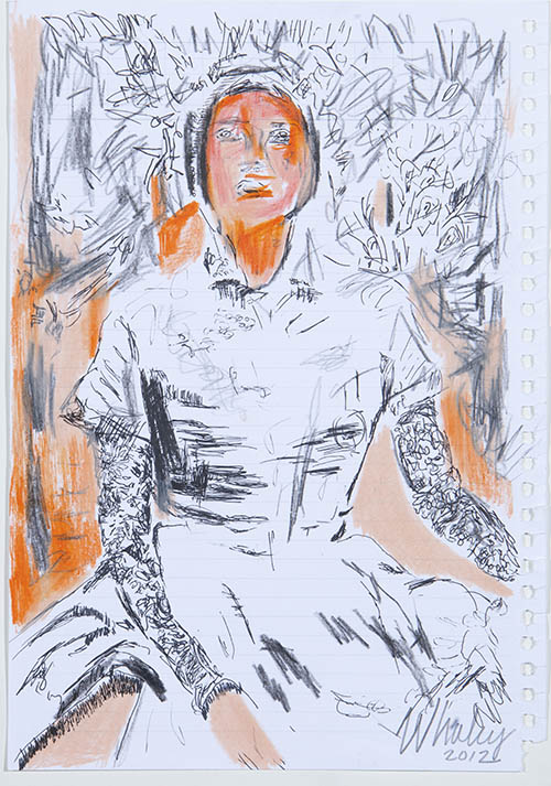 Woman in White Dress,2012